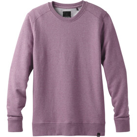 Prana M's Asbury LS Crew Shirt Thistle Heather